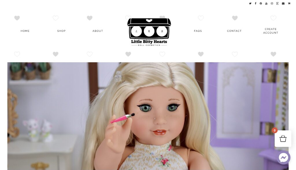Little Bitty Hearts Doll Cosmetics