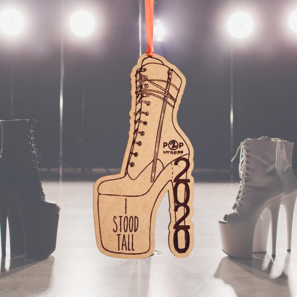 """I Stood Tall"" 2020 High Heel Christmas Ornament"