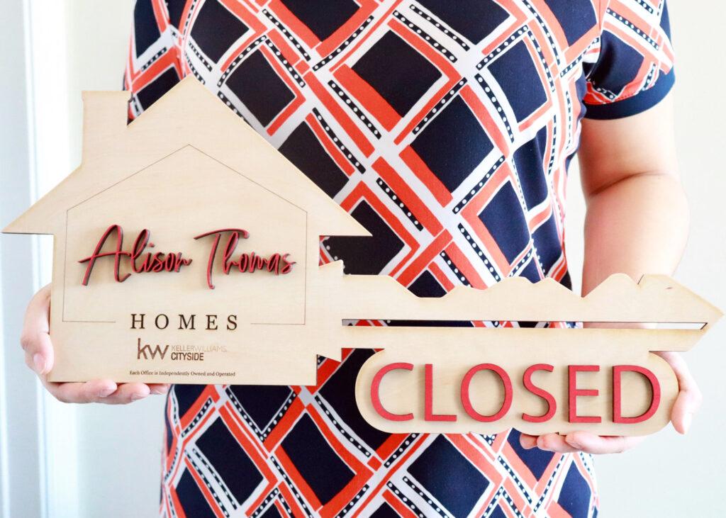 Custom Real Estate Closing Key Photo Prop